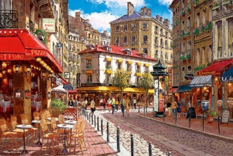 1000ピースジグソーパズル 陽のあたるパリのカフェ(サムパーク) 《廃番商品》