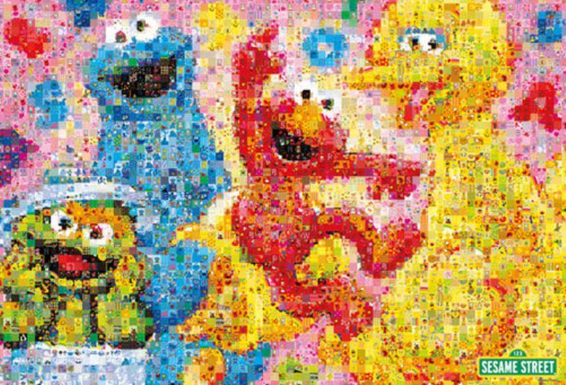 1000ピースジグソーパズル モザイク セサミストリート 《廃番商品》