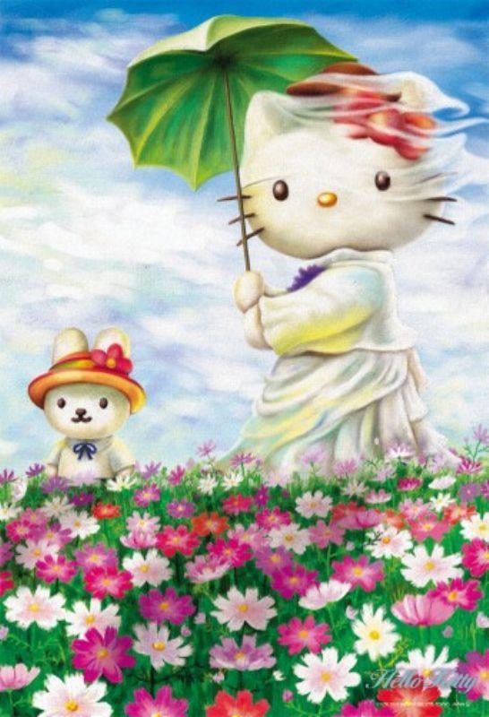 300ピースジグソーパズル ハローキティ「日傘の女」 《廃番商品》