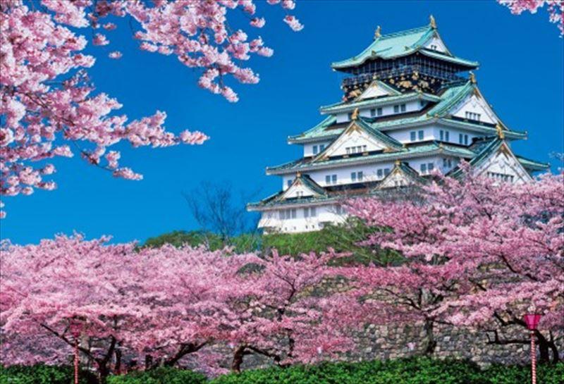 1000ピースジグソーパズル 春満開の大阪城 《廃番商品》