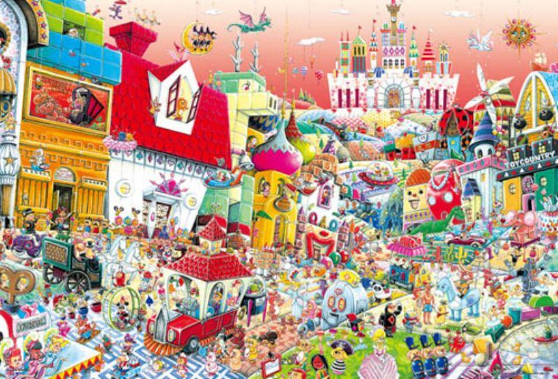 1000ピースジグソーパズル トイ タウン(山本真嗣) 《廃番商品》