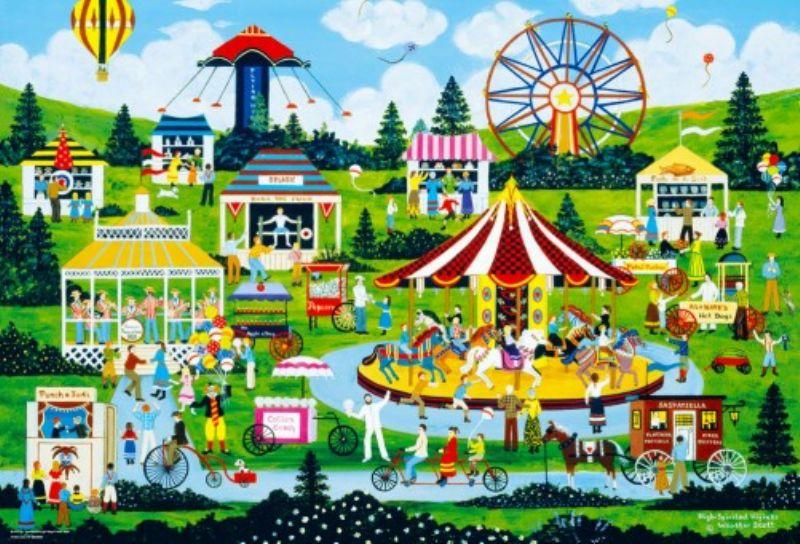 1000ピースジグソーパズル にぎわいの遊園地(ジェーン・ウースター・スコット) 《廃番商品》