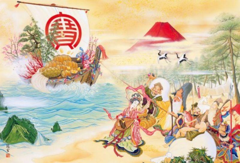 1000ピースジグソーパズル 金運宝当図(田邉慈玄) 《廃番商品》