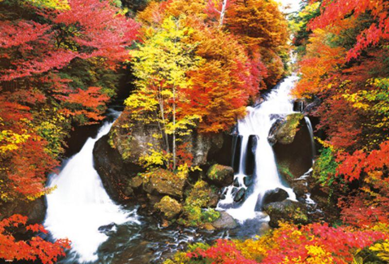 1000ピースジグソーパズル 紅彩に染まる竜頭の滝 《廃番商品》