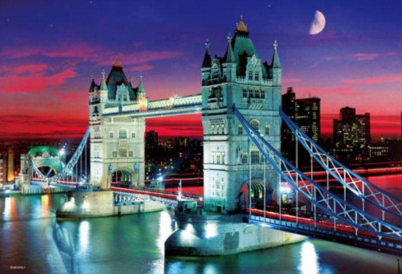 1000マイクロピースジグソーパズル タワー・ブリッジ ~夕暮れに輝く跳ね橋~ 《廃番商品》