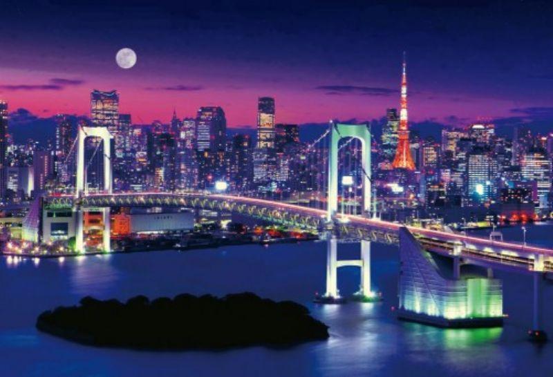 1000マイクロピースジグソーパズル レインボーブリッジと東京夜景 《廃番商品》