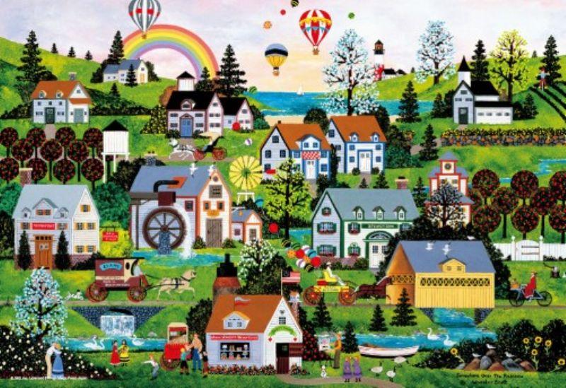 1000マイクロピースジグソーパズル 虹のかかる街(ジェーン・ウースター・スコット) 《廃番商品》