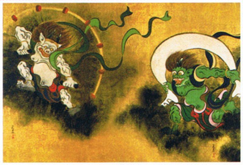 タンブラー付きミニパズル150ピース 日本画 風神雷神(俵屋宗達) 《廃番商品》