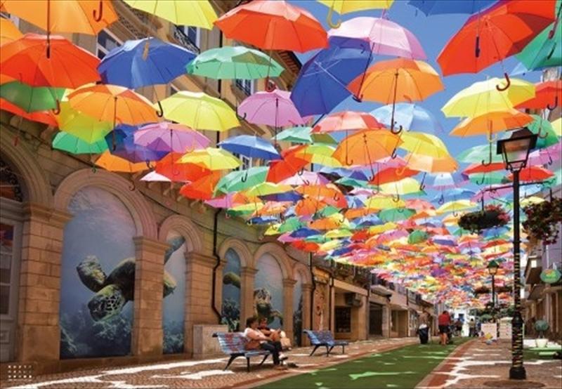 1000ピースジグソーパズル 死ぬまでに行きたい!世界の絶景 アンブレラスカイプロジェクト(ポルトガル) 《カタログ落ち商品》