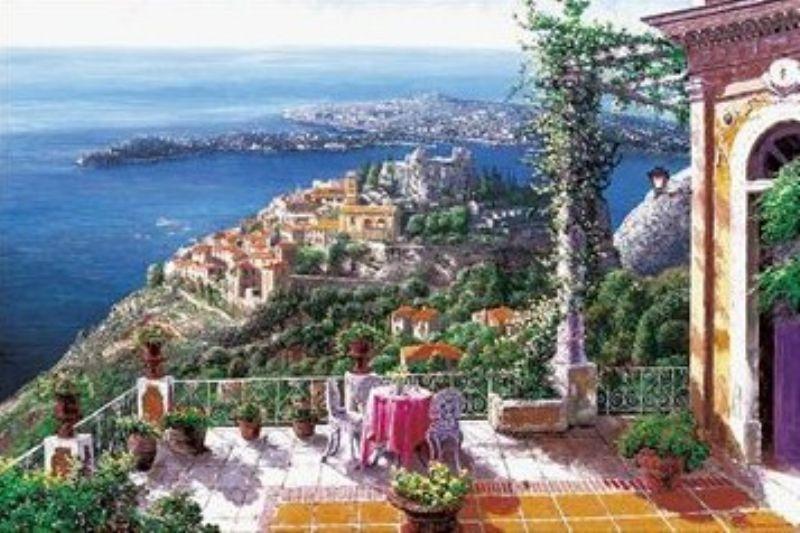 【引上品】1000ピースジグソーパズル 地中海の村 エズ(サムパーク) 《廃番商品》