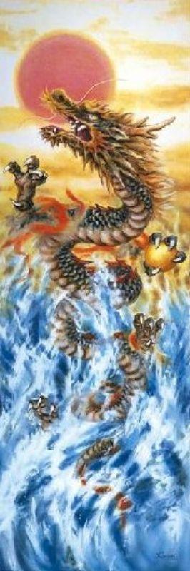 【引上品】1518スモールピースジグソーパズル 昇竜図(原井加代美) 《廃番商品》
