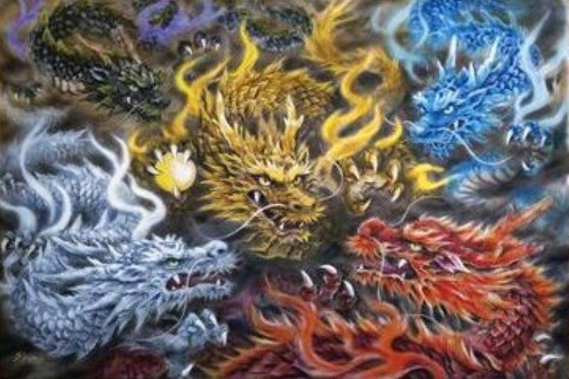 3000スモールピースジグソーパズル 五色の龍(原井加代美)