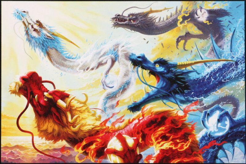 1000ピースジグソーパズル 四龍天昇(ナブランジャ) 《廃番商品》