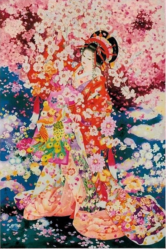 【引上品】1000ピースジグソーパズル 桜の夢(春代) 《廃番商品》