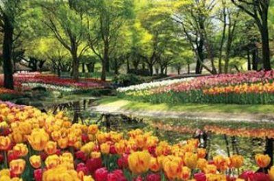2016ベリースモールピースジグソーパズル チューリップ咲く公園-東京 《廃番商品》