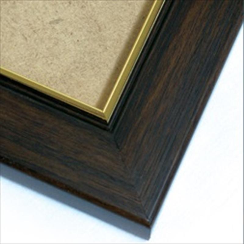 【取寄商品】ジグソーパズル用木製フレーム ゴールド・インラインパネル(70×100cm)ダークブラウン
