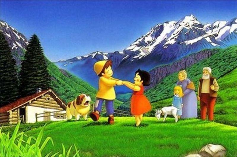 1000ピースジグソーパズル アルプスの少女ハイジ 牧場のダンス 《廃番商品》