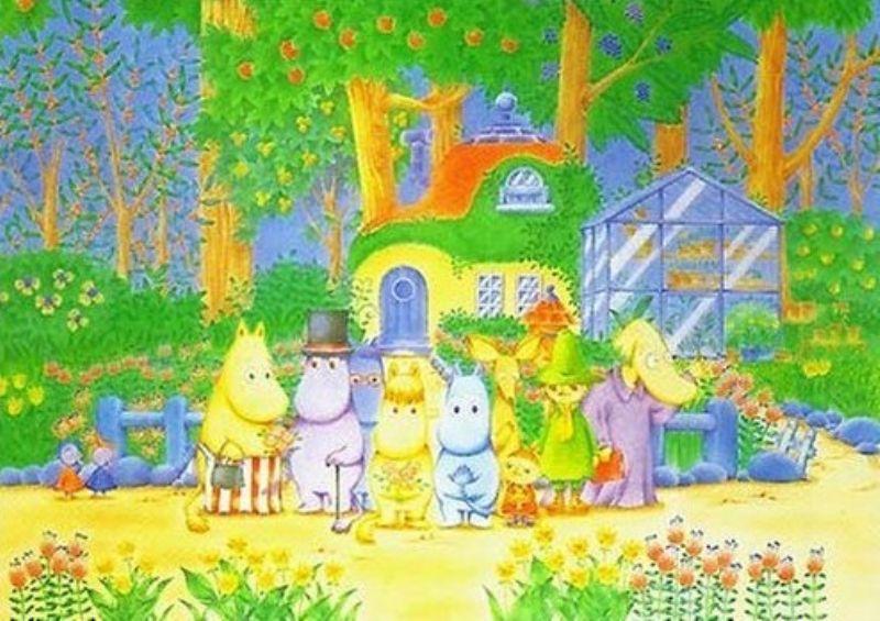 2000ピースジグソーパズル ムーミン ヘムレンさんの庭 《廃番商品》