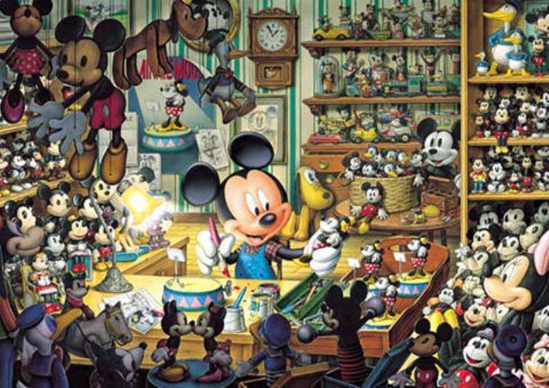 108ピースジグソーパズル ミッキーのおもちゃ工房〈光るジグソー〉 《廃番商品》
