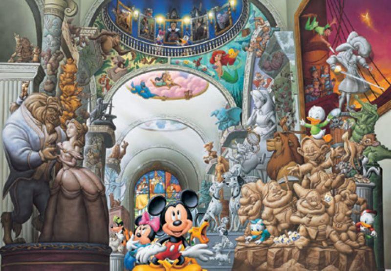 108ピースジグソーパズル ディズニーオールキャラクターミュージアム 《廃番商品》