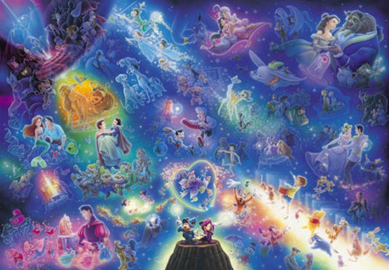 在庫限り 『4年保証』 500ピースジグソーパズル ディズニーオールスターシンフォニー〈光るジグソー〉
