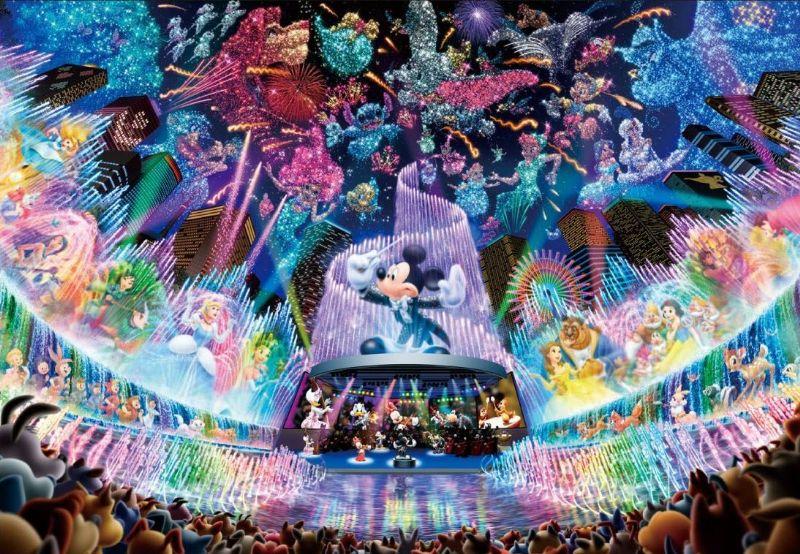2000ピースジグソーパズル ディズニーウォータードリームコンサート〈光るジグソー〉