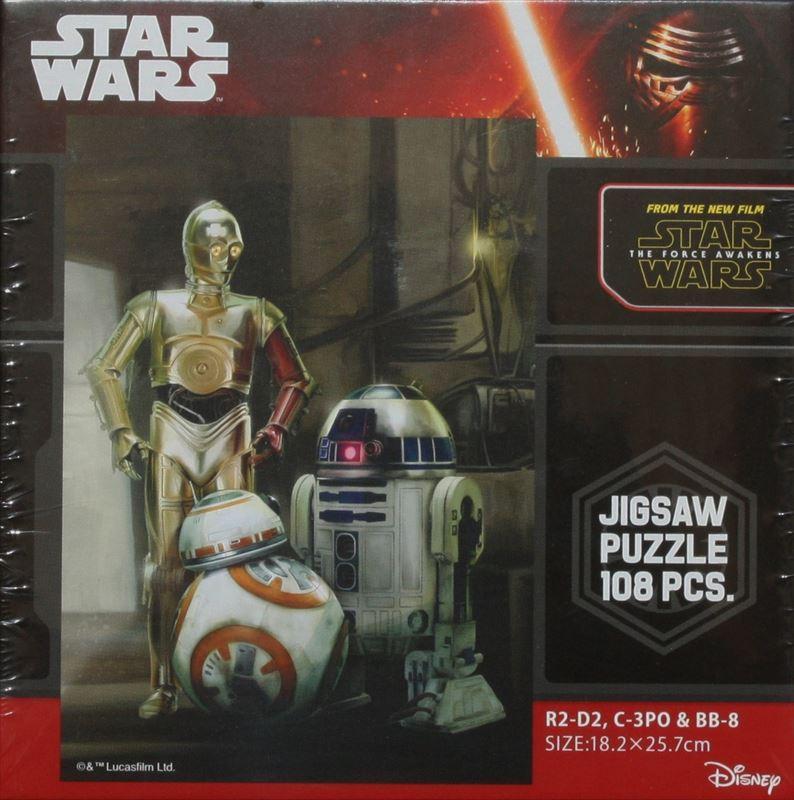 108ピースジグソーパズル スター・ウォーズ R2-D2, C-3PO & BB-8