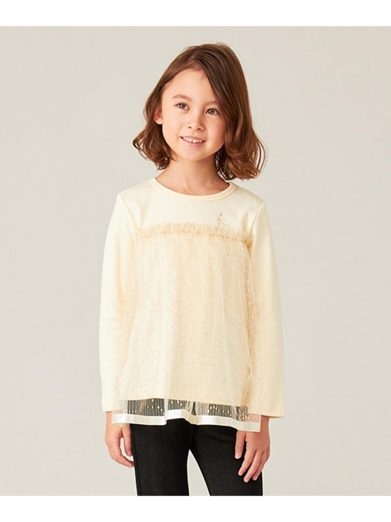 組曲 キッズ カットソー クミキョク KIDS Rakuten Fashion メーカー在庫限り品 キラキラチュール グリーン 送料無料 WEB限定 ホワイト Tシャツ 100-140? 超安い