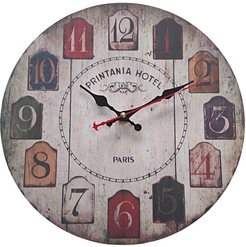 壁掛け時計 インテリア ウォール 驚きの値段 クロック レトロ アンティーク シャービー 木製 ウッド 家具 直径3 送料無料 大理石 安売り tno-b92 北欧風 直径30cm 時計 クラシック カラフル 壁掛け 西海岸 マリン