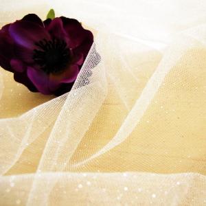 キラキラソフトチュール チュール ラメチュール 出色 ホワイト 50cm 白 ラメ ベール ドレス 卸直営 キラキラ ソフト