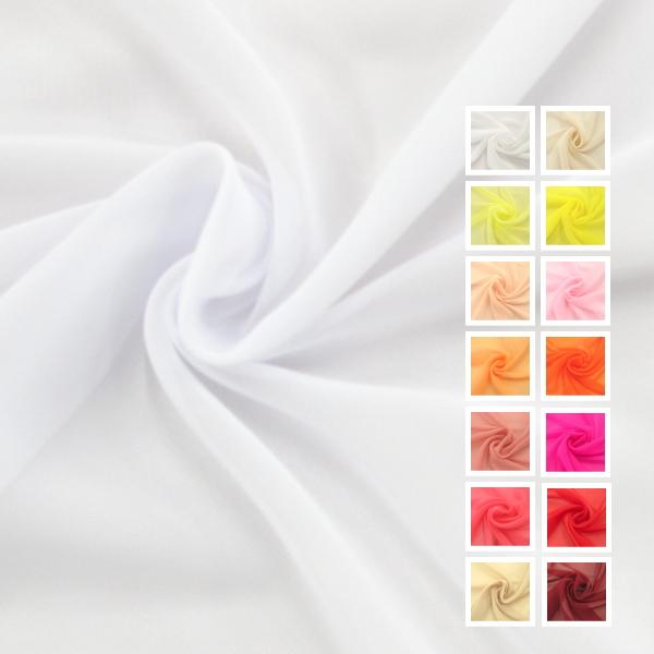 いつでも激安 白 ホワイト 黄色 オレンジ オフホワイト ピンク 柔らかい やわらかい 透ける 無地 全31色 モデル着用 注目アイテム 50cm単位の測り売り 布 あす楽対応 コスプレ カーテン ディスプレイ ポリエステル100% 衣装 年末年始大決算 75Dシフォン生地
