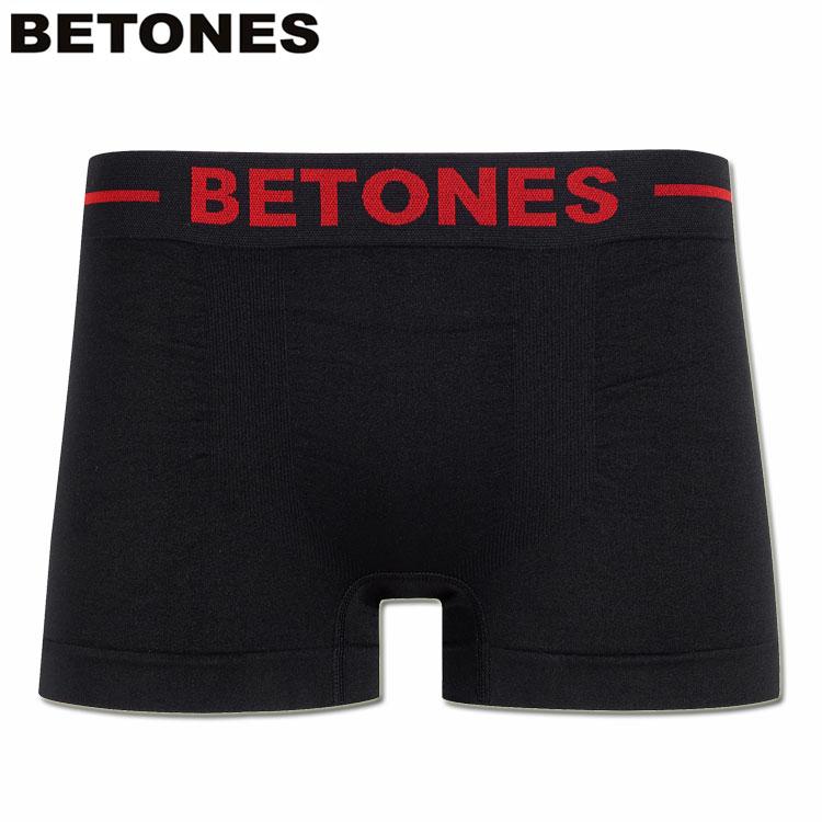 独自の世界観と充実したランナップのシームレスボクサー BETONES メーカー直送 ビトーンズ シームレスボクサーパンツ スキッドブラック BLACK 最安値 SKID