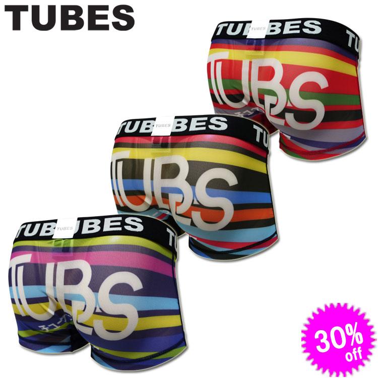 TUBES チューブス ボクサーパンツ MULTI BORDER メッシュ 71015