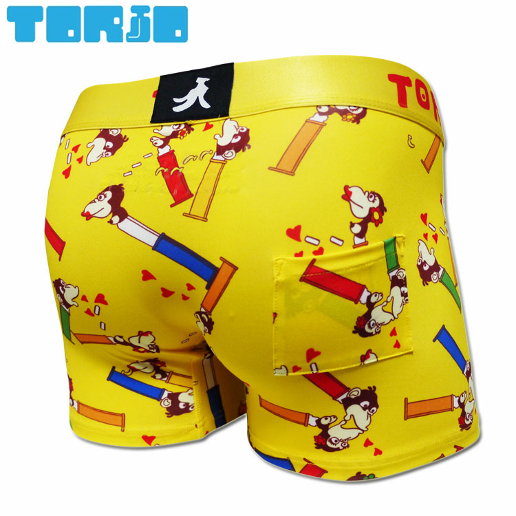 ちょっぴりエッチでポップなアンダーウェアブランド 直営店 全品送料無料 TORIO トリオ ボクサーパンツ PES 2101001 イエロー HEZ