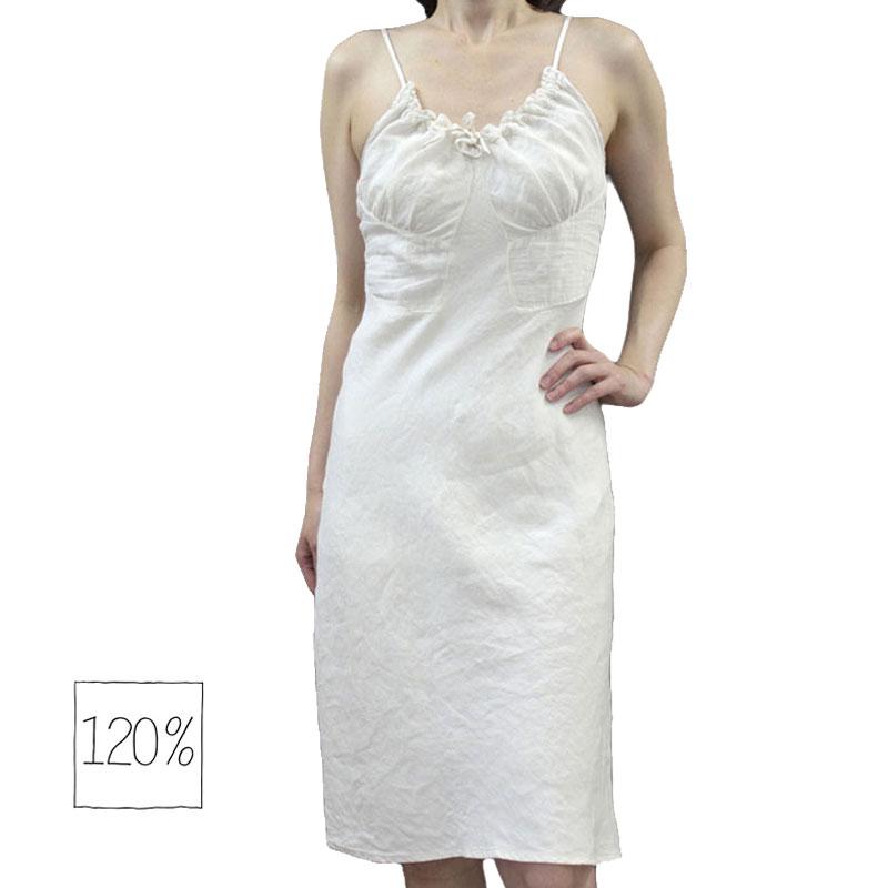 014e1bf388 120 %LINO 120% Reno 120 %lino sleeveless one piece Camisole linen linen  Orange   Blue (light blue) and white (white)   black (black) size  40 (7-9)    42 ...