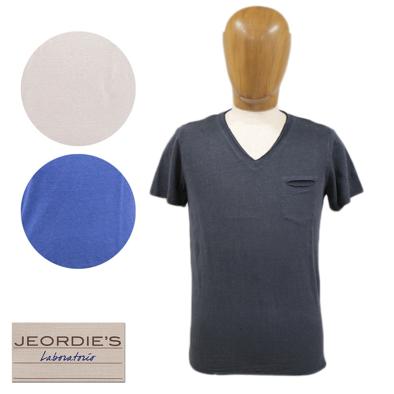 【送料無料】 JEORDIE'S ジョルディーズ メンズ Tシャツ 半そで Vネック リネン 麻 ホワイト(白)/ブルー/ネイビー(紺) SIZE:S/M/L (jeordie-6481203) 雑誌掲載 国内正規店(正規品) 【smtb-k】【kb】