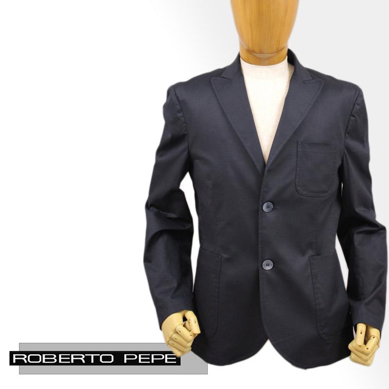 【送料無料】 ROBERTO PEPE ロベルト ペペ メンズ ジャケット テーラード コットン 綿 ネイビー(紺) SIZE:48/52 (robertop-6080202) 【smtb-k】【kb】
