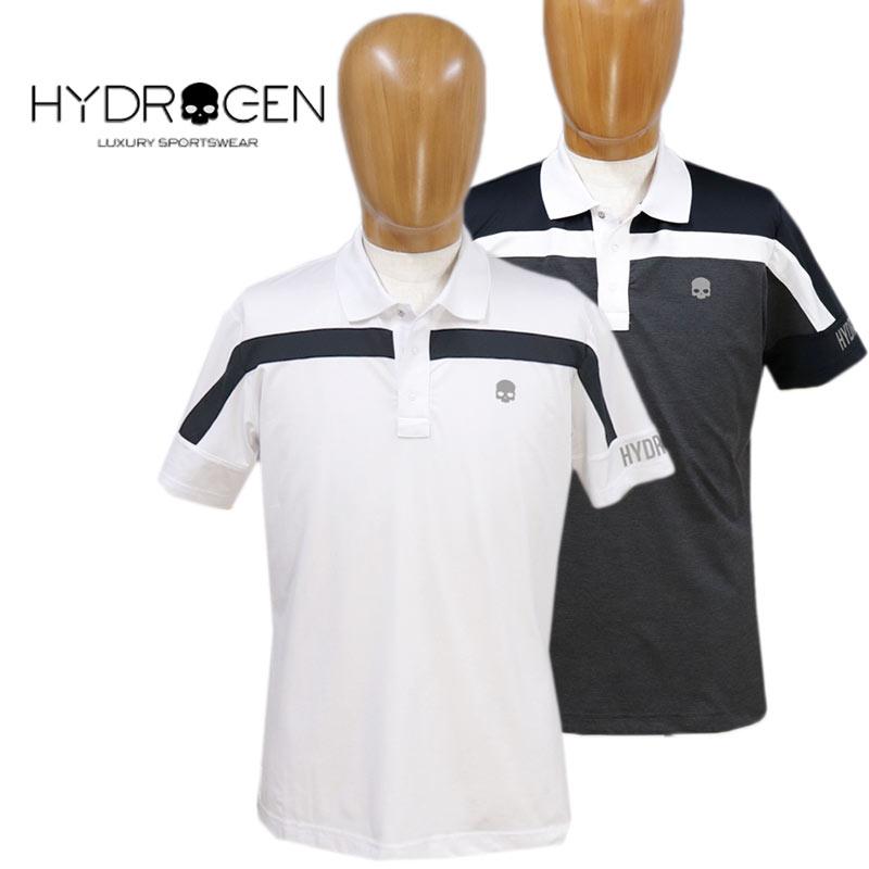 【送料無料】【2020春夏新作】HYDROGEN ハイドロゲン ポロシャツ GOLF CLUB POLO 半そで スカル メンズ 国内正規店(正規品)ホワイト(白)/ブラック(黒) SIZE:M/L (hydrogen_130126)
