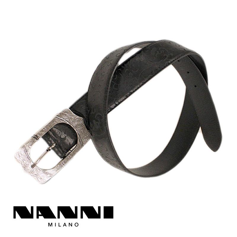 NANNI Nanni belt leather black (black) (nanni-2980204) 05P03Dec16