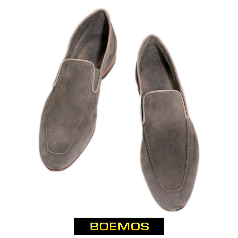 the latest 9bf2f a76d0 Boe MOS BOEMOS men shoes shoes loafer slip-ons leather nubuck brown size:  42/43 (boemos-4291202)