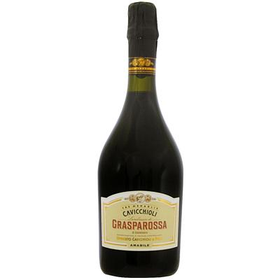 人気のイタリア産 甘口スパークリング カビッキオーリ 出荷 ランブルスコ ロッソ グラスパロッサ アマービレ 注文後の変更キャンセル返品 750ml スパークリング 赤ワイン イタリア