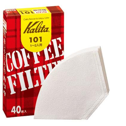 味 コク 香りを逃がさないパルプ100% 与え カリタ e暮らしR 1~2人用 コーヒーフィルター101濾紙 40枚 祝日