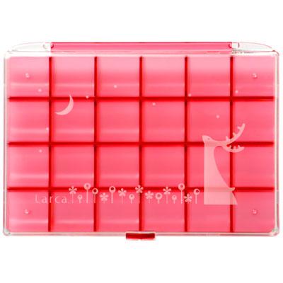 ジュエルケース アクセサリーケース コスメケース ピアスケース 数量限定 イヤリング コレクションケース 指輪 至上 Larca ブローチ ラルカ e暮らしR ピンク