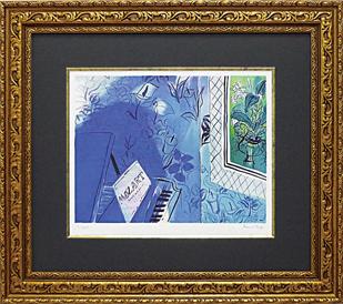 「モーツァルトに捧ぐ」デュフィ(世界の名画・デュフィ・ジグレー版画(モーツァルトに捧ぐ)[絵画通販])【壁掛けフックつき】【絵のある暮らし】