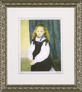 「ルグラン嬢の肖像」ルノワール(世界の名画・ルノワール・ジグレー版画(ルグラン嬢の肖像)[絵画通販])【壁掛けフックつき】【絵のある暮らし】