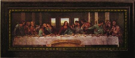 「最後の晩餐」 レオナルド ダ ヴィンチ【通信販売】(世界の名画・レオナルド ダ ヴィンチ・アートポスター[絵画通販])【壁掛けフック付き】【絵のある暮らし】