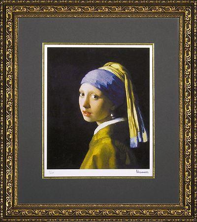 (真珠の耳飾りの少女)】「青いターバンの少女」ヨハネス フェルメール 【通信販売】(世界の名画・フェルメール・ジグレー版画[絵画通販]【絵のある暮らし】【壁掛けフックつき】