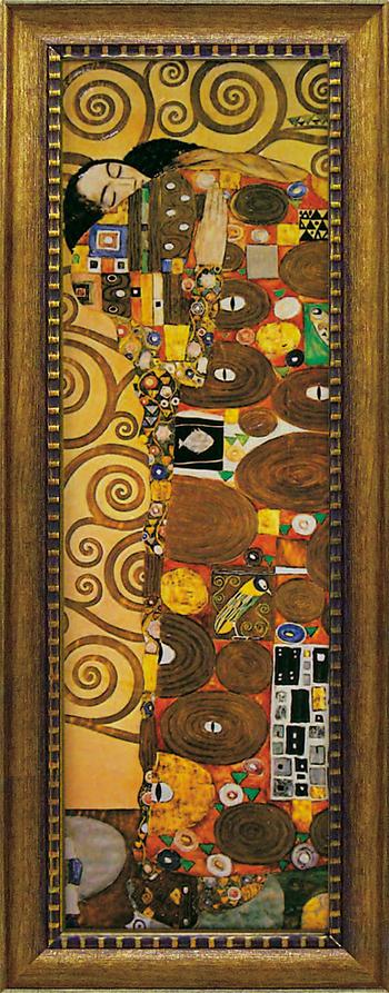 「抱擁」グスタフ クリムト 世界の名画・クリムトアートポスター[絵画通販])【壁掛けフック付き】【絵のある暮らし】
