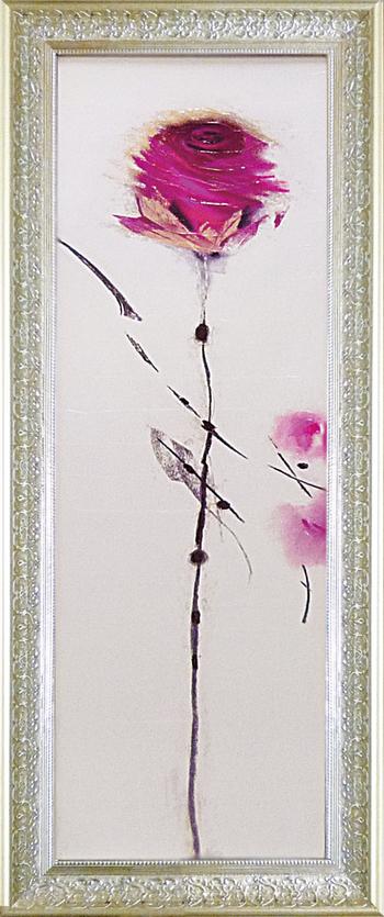 「オリエンタル ローズ1」マリリンロバートソン【通信販売】花アートポスター[絵画通販]【壁掛けフック付き】【絵のある暮らし】