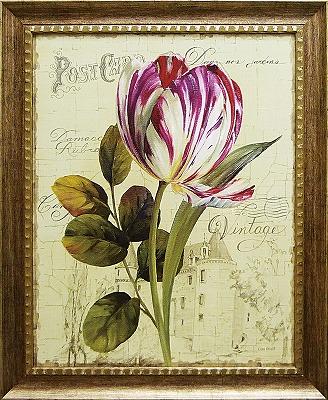 【代引不可】【お届け日時間指定不可】「ガーデン ビュー チューリップ2」リサ オーディット (花・静物)特殊ゲル加工アートポスター[絵画通販]【壁掛けフック付き】【絵のある暮らし】